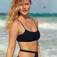 Po Swim Ellie Scoop Bikini Top, True Black