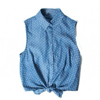 MICA POLKA DOT BLOUSE - WOMEN'S