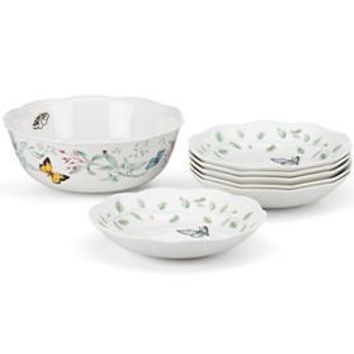 Butterfly Meadow® 7-Piece Pasta / Salad Set by Lenox
