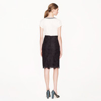 Collection pencil skirt in scalloped lace - j.crew collection - Women's skirts - J.Crew