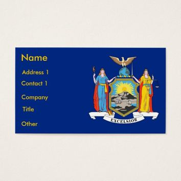 Business Card with Flag of New York U.S.A.