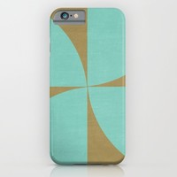 mod petals - teal and brown iPhone & iPod Case by Her Art