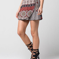 FULL TILT Floral Medallion Wrap Skirt | Short Skirts