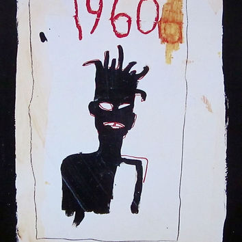 Untitled (1960), Offset Lithograph, Jean-Michel Basquiat