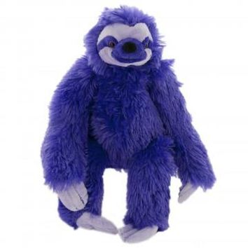 Cuddlekins Purple Plush Sloth