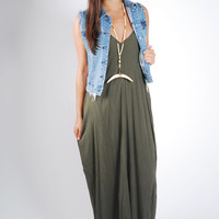Picture Perfect Maxi Dress - Olive