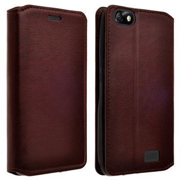 For Apple iPhone 6s / 6 Case, Pu Leather Magnetic Fold Wallet Case[Kickstand] with ID & Card Slots for Iphone 6S/6 - Brown