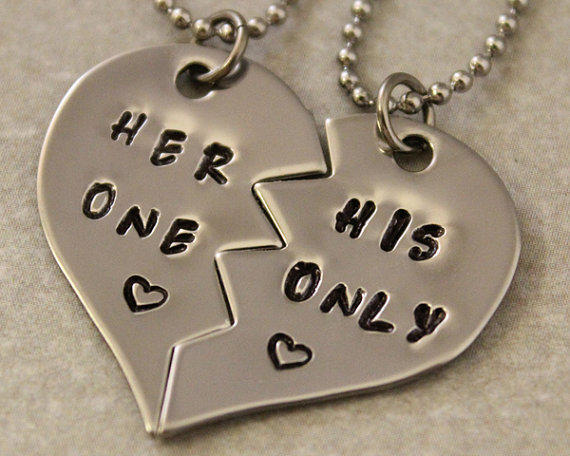 Her one his only necklaces girlfriend from twentysix7 for Cute jewelry for girlfriend