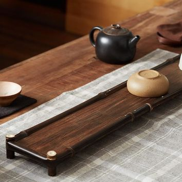 Black bamboo Tea tray Coffee Serving Tray