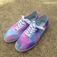 Pastel Tie Dye Shoes -- MADE TO ORDER