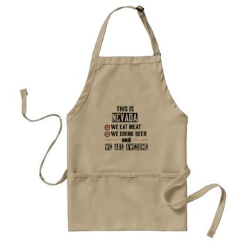 Nevada Eat Meat Drink Beer Awesome Adult Apron
