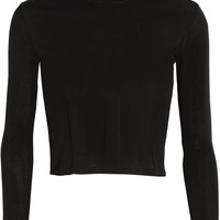 Rosetta Getty - Cropped cotton-jersey turtleneck top