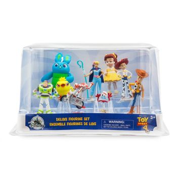 Disney Store Toy Story 4 Deluxe Figurine Set Cake Topper 9 Pieces New with Box