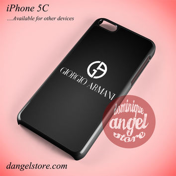 Giorgio Armani Black Logo Phone case for iPhone 5C and another iPhone devices