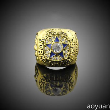 aoyuan Championship rings,NFL 1971 Dallas Cowboys Super Bowl Champion Rings, sports fans rings,