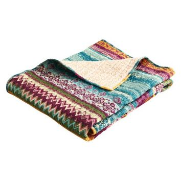 Greenland Home Southwest Quilted Cotton Throw | Hayneedle