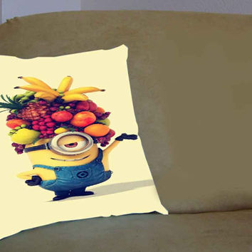 despicable me minions banana fruit - Pillow Case, Pillow Cover, Custom Pillow Case **