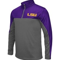 Colosseum Athletics Men's LSU Tigers Purple/Grey Hornet Quarter-Zip Performance Pullover | DICK'S Sporting Goods