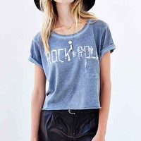 Prince Peter Rock N Roll Cropped Tee- Navy