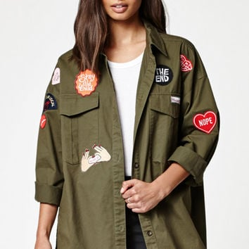 Kendall & Kylie Patched Military Jacket at PacSun.com