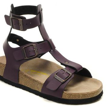 Birkenstock Chania Sandals Artificial Leather Purple - Ready Stock