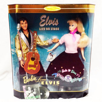 Vintage 90s Barbie Loves Elvis Collector Edition NIB Mattel 17450 Dolls