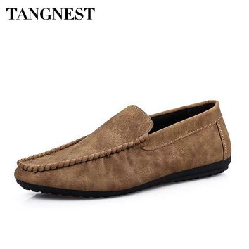 Tangnest Men's Flat Slip-On Moccasin Style Loafers