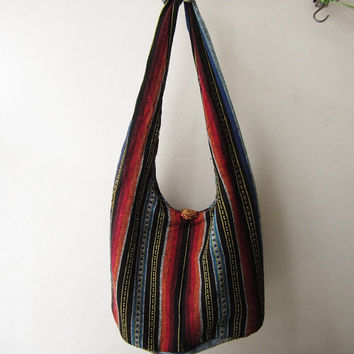 bohemian crossbody purse ,ethnic messenger bag, aztec sling bag, tribal women hobo bag, indian nepali  bag