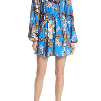 DVF Tie Waist Floral Silk Dress | Nordstrom