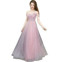 Dusty Pink Long Bridesmaid Dress Sweetheart Pleated Prom Dresses Junior Bridesmaid Gown Dresses