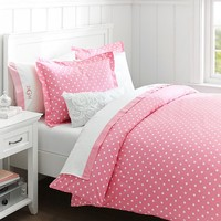 Dottie Duvet Cover + Sham, Bright Pink