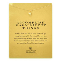 Dogeared, Accomplish Magnificent Things Starburst Necklace, Gold Dipped 16 inch