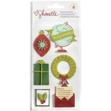Shimelle Christmas Magic Layered Chipboard Stickers-Icons