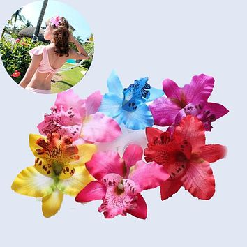 Hot Sale 1 pc Women Bohemia Beach Lily Flower Hair Clip Wedding Headwear Hair Accessories
