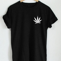 Weed Plant Shirt Leaf Graphic Tee Fashion Women Shirt Casual Cotton Funny Shirt For Lady Top Tee