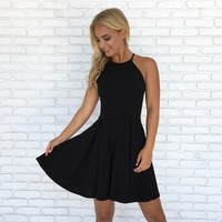 Avalon Babydoll & Lace Dress in Black