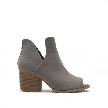 Core-12 Grey Peep Toe Bootie
