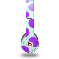 Kearas Polka Dots Purple And Blue Decal Style Skin (fits Beats Solo HD Headphones - HEADPHONES NOT INCLUDED): Everything Else
