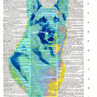 German Shepherd Dog - Vintage Dictionary Art Print - Page Size 8.5x11