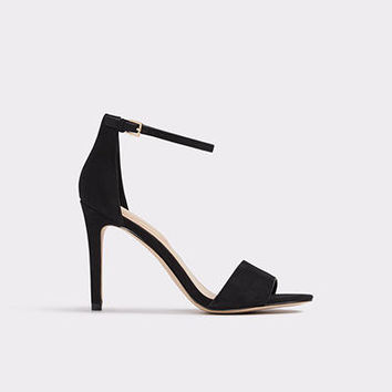 Fiolla Black Nubuck Women's Open-toe heels | ALDO US