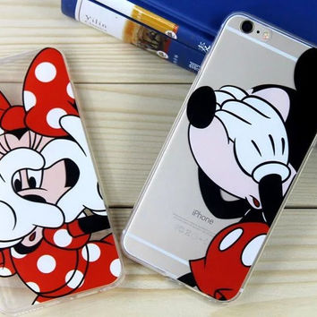 Mickey Minnie Mouse Women Coque Fundas Cover Phone Cases For Apple iPhone 6 6s s plus 6plus 7 7 plus Donald Daisy Duck Case Capa