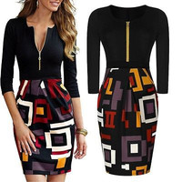 New Women Summer Casual Office Lady Party Midi Dress