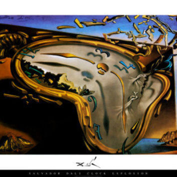 Soft Watch at the Moment of First Explosion, c.1954 Posters by Salvador Dalí at AllPosters.com