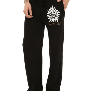 Licensed cool CW Supernatural Anti-Possession Symbol Guys Sleep Lounge Pants Pajamas S NWT