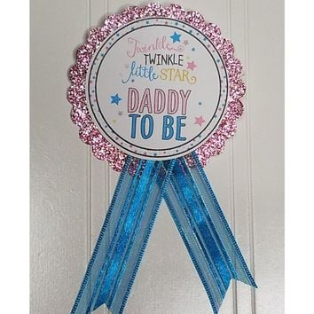 Twinkle Little Star Baby Shower Pin - Daddy to be or Mommy to Be pin to wear at Baby Shower or Baby Sprinkle