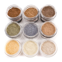 Eyeshadow 9pc FALL Mineral Makeup Collection Eye Color Set Natural Vegan Minerals