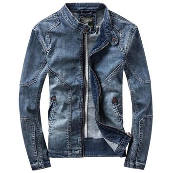 New Retro Classics Denim Jacket Men Vintage Clothes Casual Slim Jackets Men's Coat Jeans Jackets Plus Size M-3XL