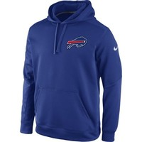 Mens Buffalo Bills Nike Royal Blue KO Chain Fleece Pullover Performance Hoodie