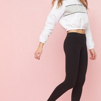High Rise French Terry Leggings