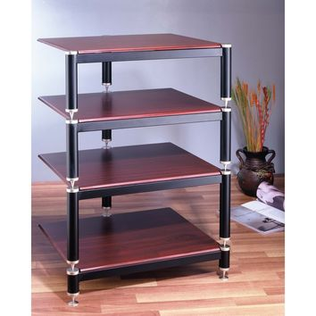 4 Shelf Modular Expandable Audio Rack Multiple Finishes
